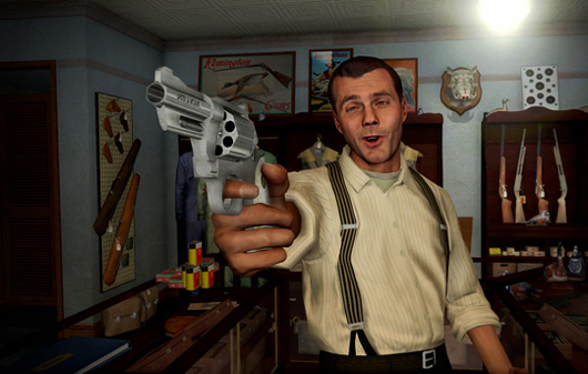 It's remarkably easy to find screenshots of characters making dumb faces in LA Noire, and that makes me very happy.