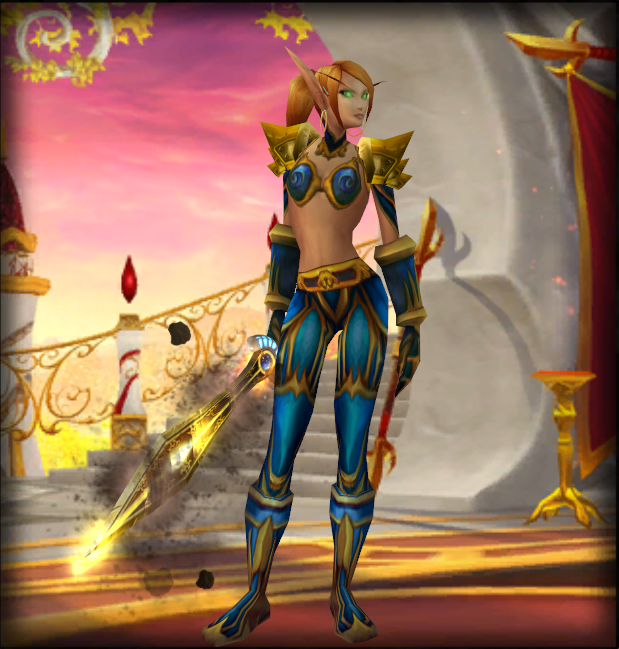 This exact same set of armor, when equipped to a male, covers their whole body.
